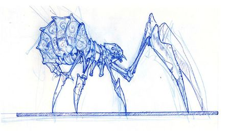 Araignée-croquis-sculpture