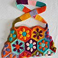 Sac Puffed Daisy au crochet face 2