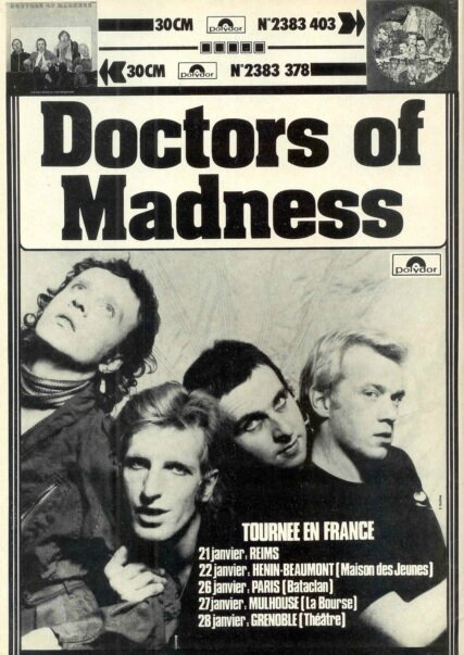 1977 01 Doctors of Madness Bataclan Affiche