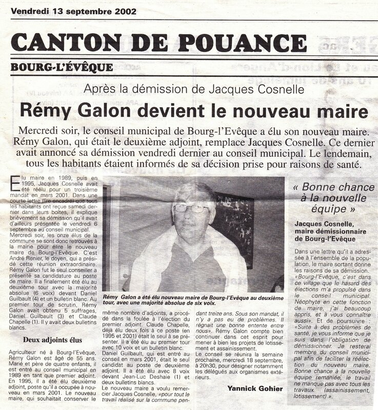 GALON MAIRE 2 - 2002
