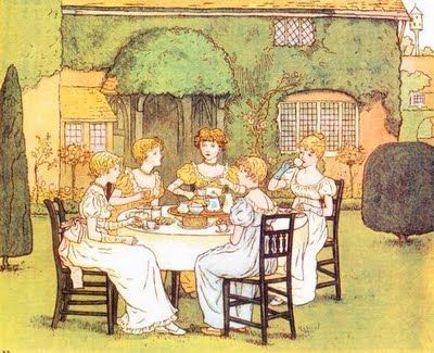 Tea, Kate Greenaway, Marigold Garden
