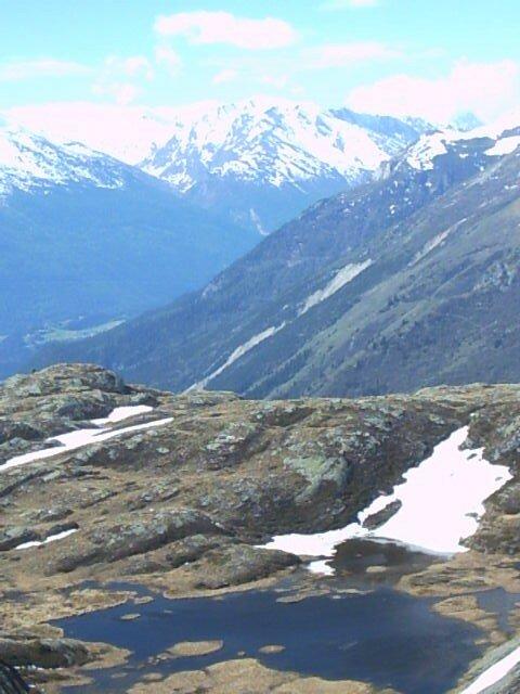 petit lac fait par la fonte des neiges au dessus de Termignon