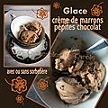 Glace à la crème de marrons & pépites de chocolat (rapide facile) avec ou sans sorbetière !