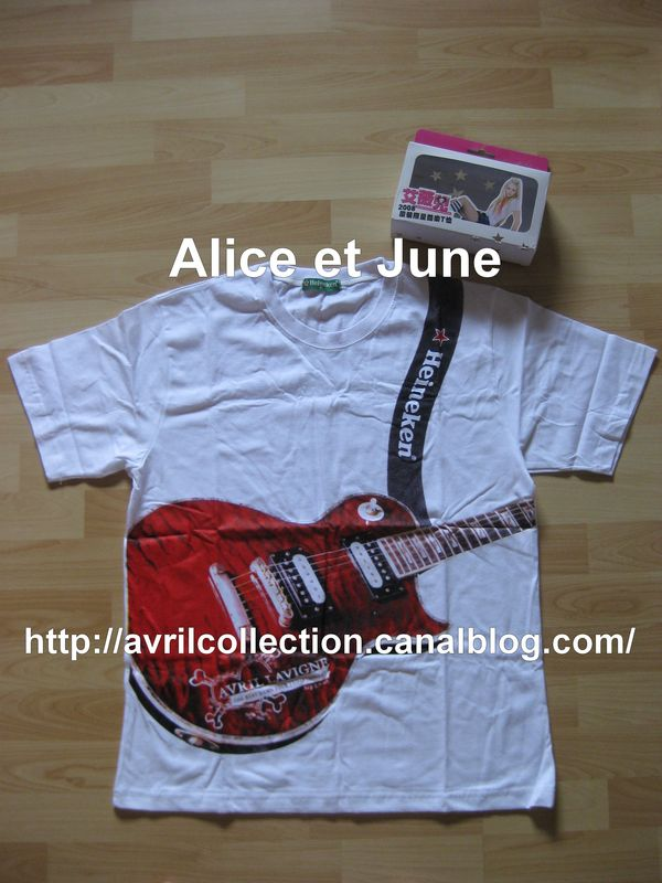 Produit Promotionnel Heineken - T Shirt Guitare Version Blanche