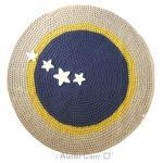 tapis-rond-crochet-bleu-indigo-jeune-beige-etoiles