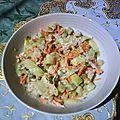 Salade croquante de crudités façon rémoulade au