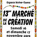MARCHE DE LA CREATION 2019