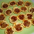 Tartelettes noix de pécan et caramel