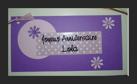 Carte Anniversaire Joyeux Anniversaire Lola L Atelier De Lulu