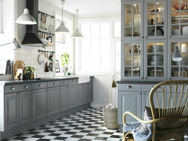 cuisine-design-ikea-plan-de-travail-mobilier-carrelage-noir-et-blanc
