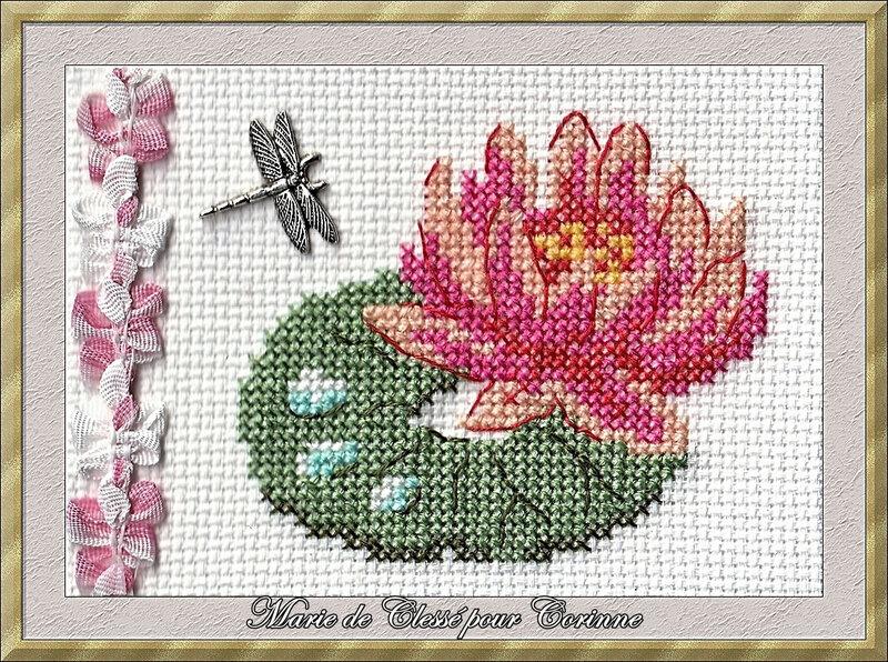 Échange ATC Août (Fleur) Nénuphar Chez Corinne Marie de Clessé pour Corinne 1