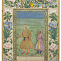 Akbar with prince khurram, mughal india, 17th century