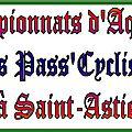 Saint-astier - championnats d'aquitaine des pass'cyclisme