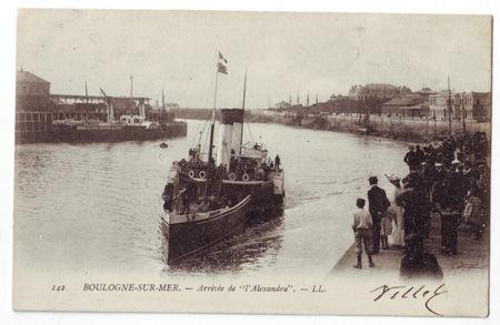 62 - BOULOGNE SUR MER - Arrivée de l'Alexandra