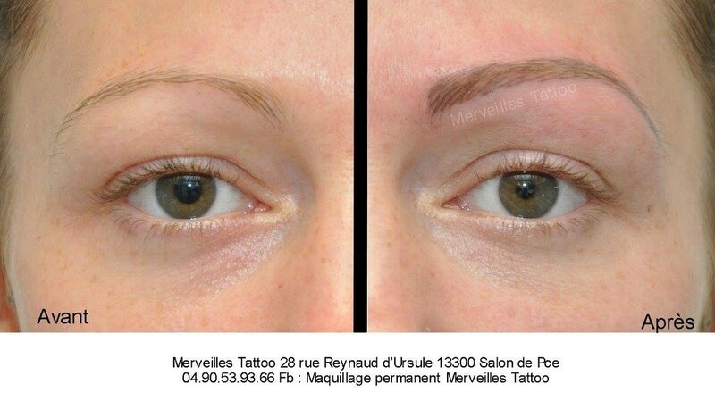 maquillage permanent avant apres, sourcils blonds