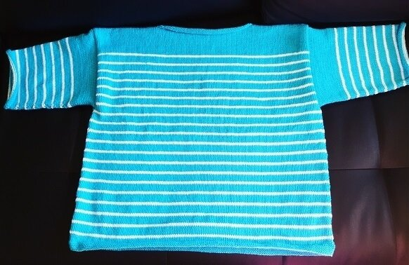Pull turquoise