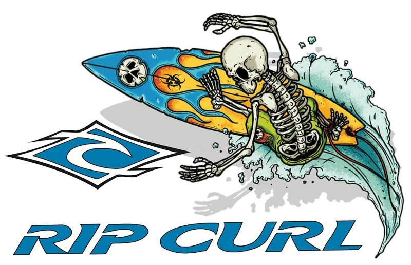 skull - zombie - surf - Quiksilver - Rip curl - summer - 01