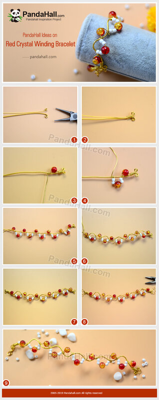 3-PandaHall-Ideas-on-Red-Crystal-Winding-Bracelet