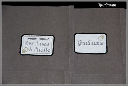 serviettes de table sardine 3