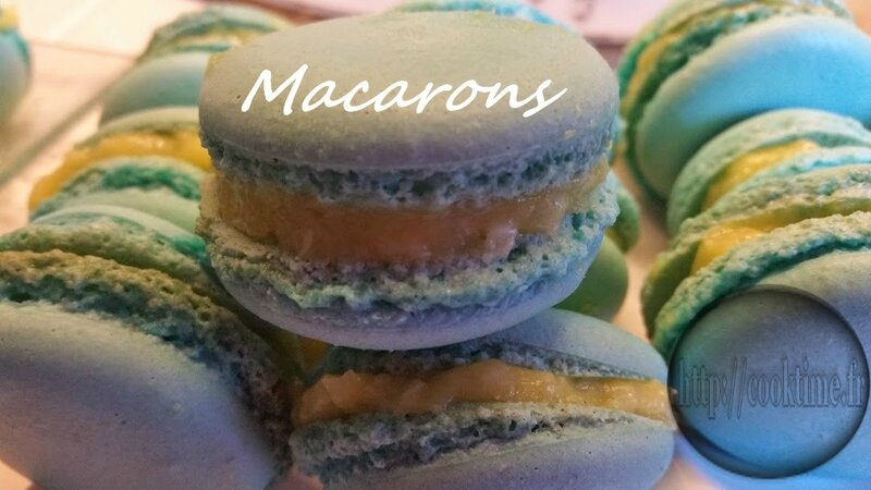 Macarons au lemon curd Thermomix 5