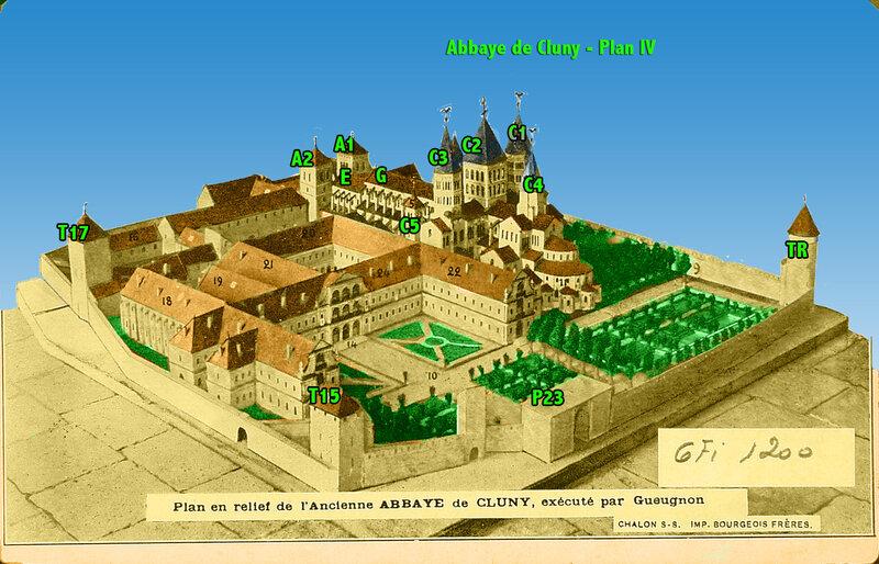 Abbaye de Cluny - Plan IV