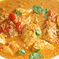Poulet au curry rouge