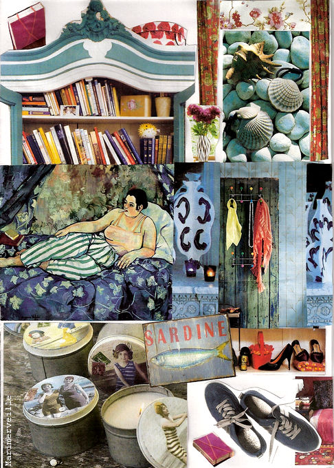 Harmonie colorée en collages d'improbables