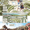 le château de versailles représenté dans la bande dessinée