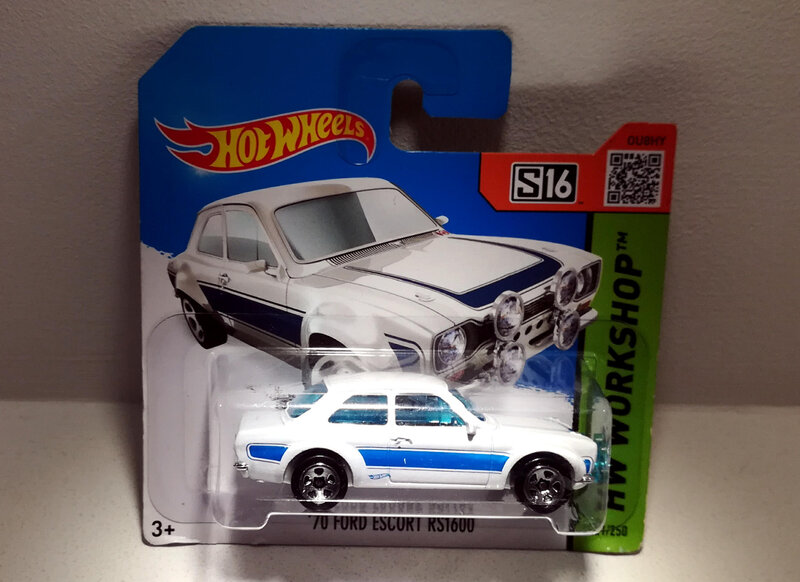 Ford Escort RS 1600 de 1970 (Hotwheels)
