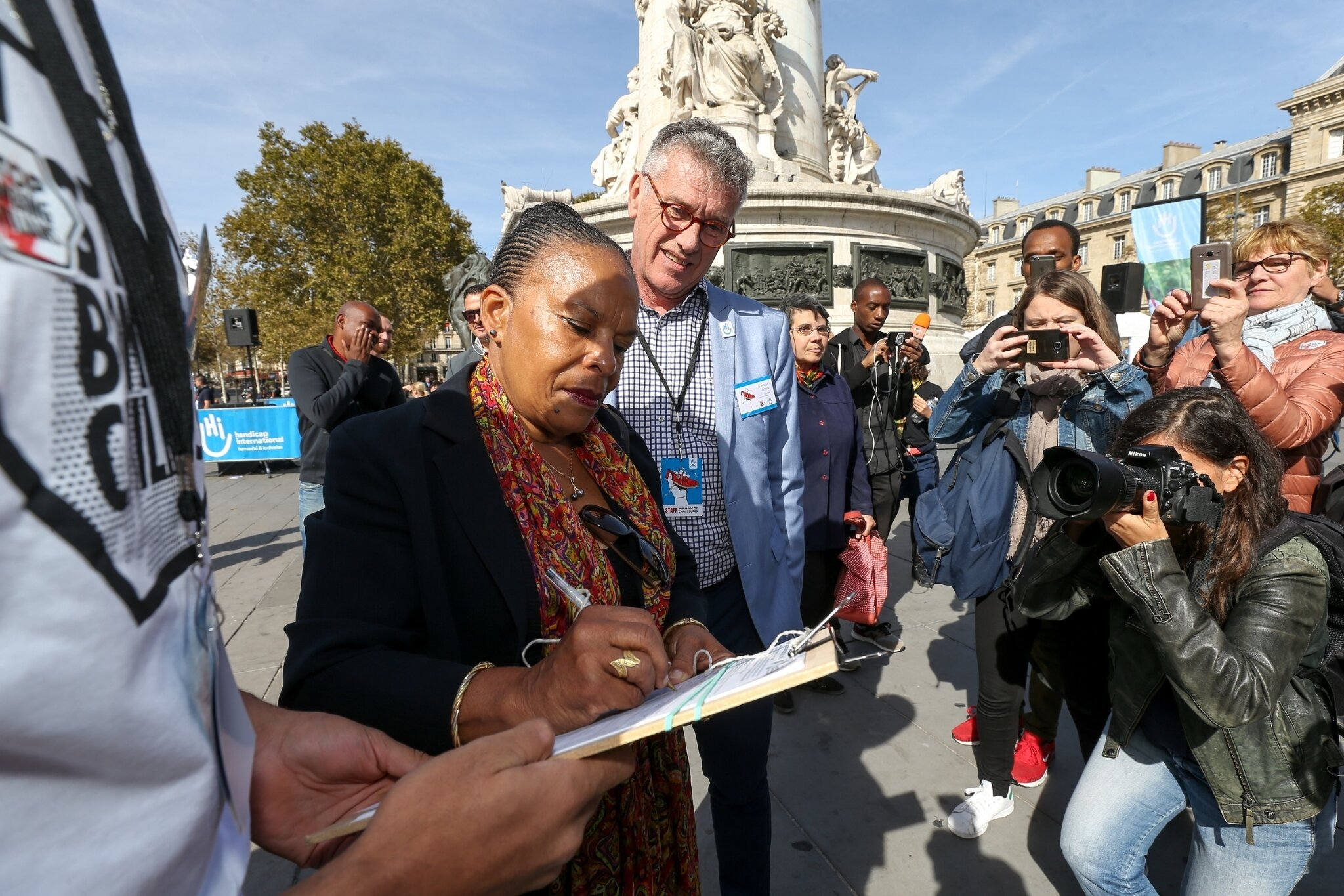 Christiane Taubira soutient Handicap International. © Michel Stoupak. Sam 29.09.2018, 12h38m02.