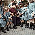 A-Man-With-A-Group-Of-Russian-Children-1940