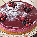 Le blog fête ses 4 ans d'existence aujourd'hui et pour l'occasion ma recette de bavarois d'anniversaire