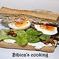 Sandwich gourmand feta et noix