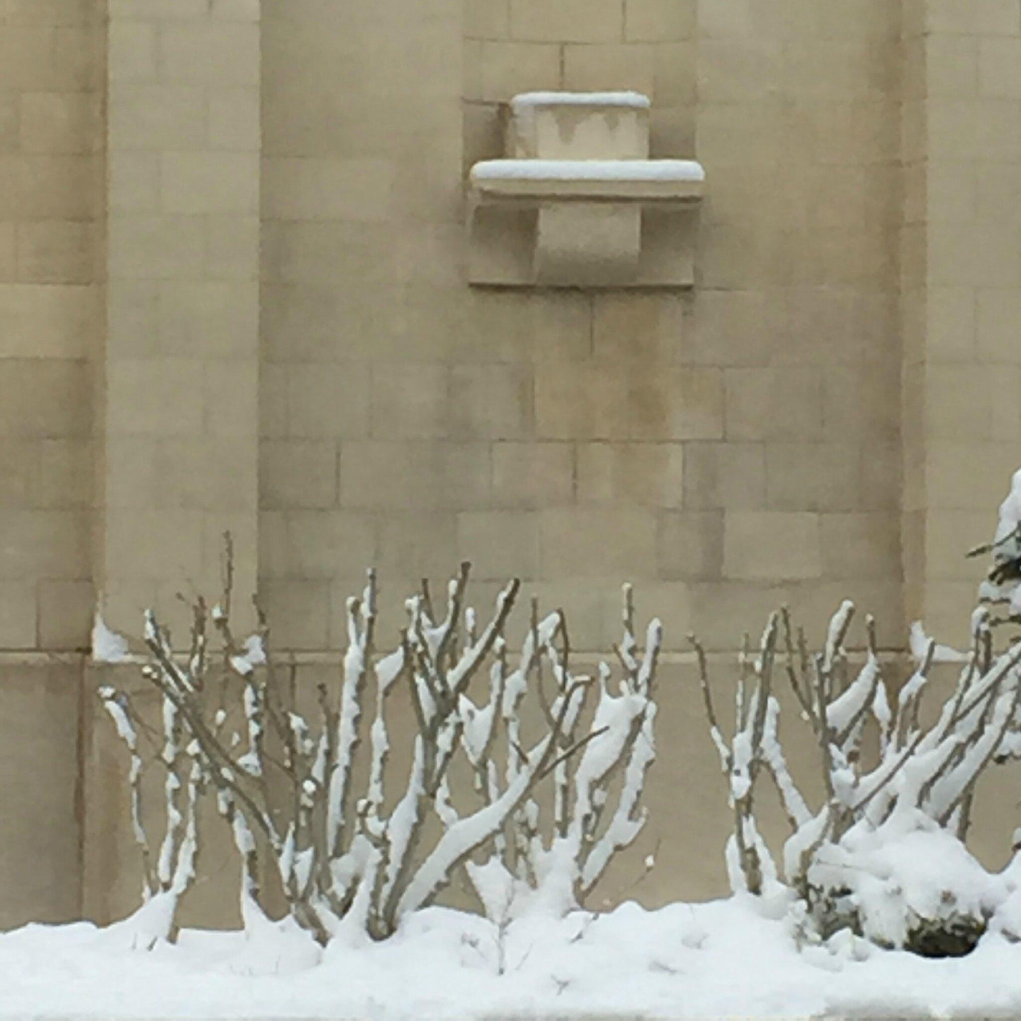 Hier La Neige à La Fenêtre Main Tenant