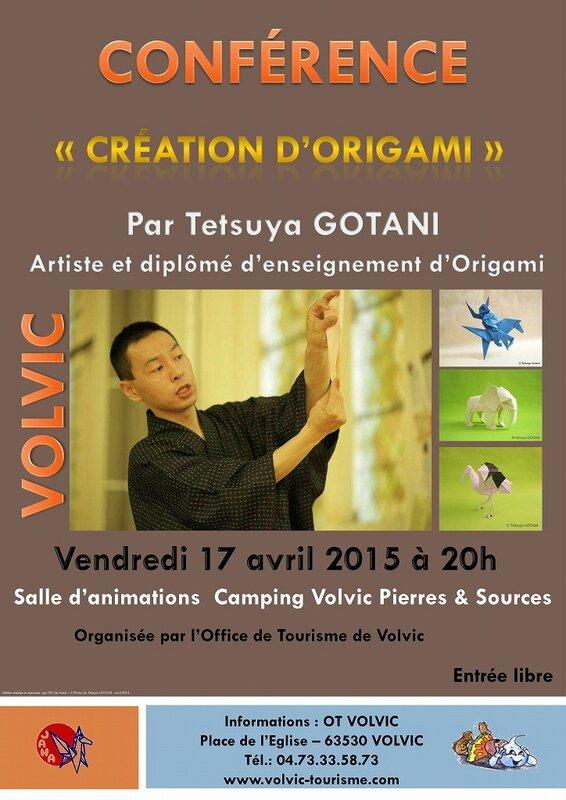 s-Conference Origami Tetsuya Gotani Volvic 2015