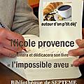 P'tit dej' a la bibliotheque de septeme ce samedi 5 mai en compagnie de nicole provence !