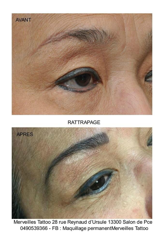 Rattrapage de sourcils en maquillage permanent réalisé par Vanessa