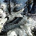 Le champ de cascades du paradisiaque bourg de la chapelle-taillefert