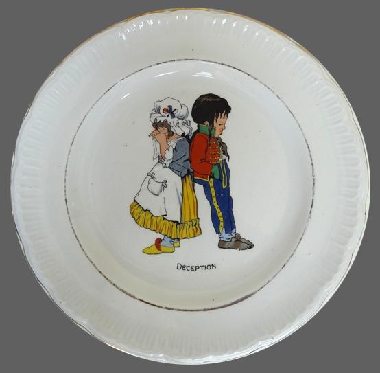 Assiette-Ste-AMANDINOISE-Enfant-Régiment-Déception-muluBrok-Vintage
