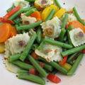 Poêlée de légumes et ravioles st jean