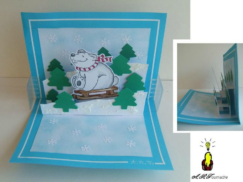Cartes de noel pop up a fabriquer