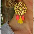 BO Andalouise dorée corail jaune