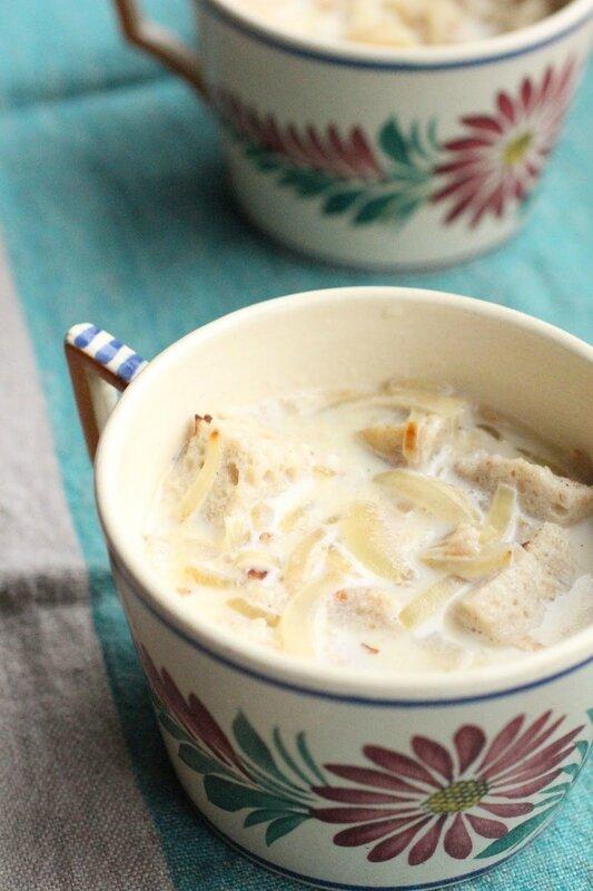 soupe lait oignons
