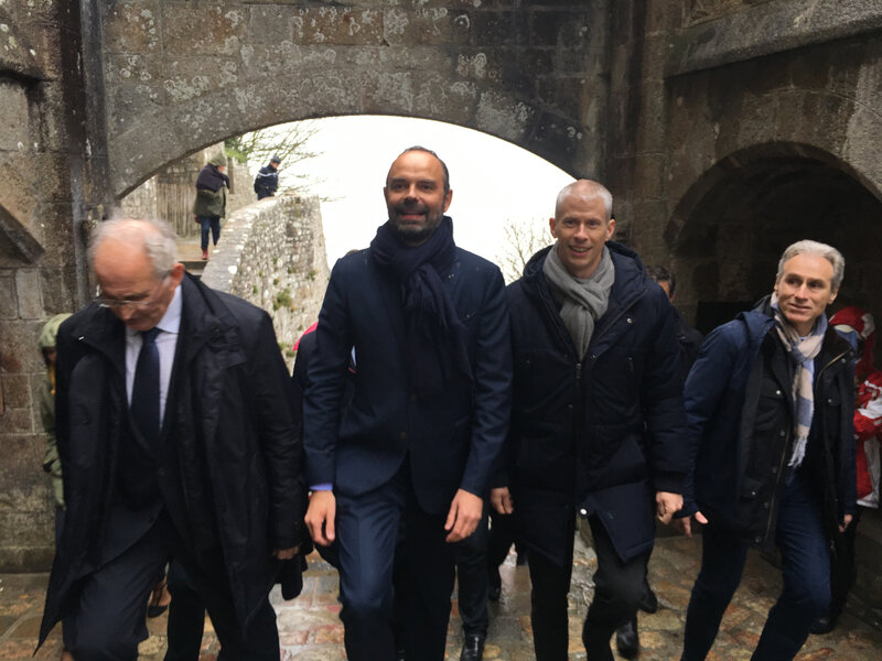 Premier ministre_Edouard Philippe_Mont-Saint-Michel_mars_2019_déplacement_abbaye