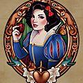 Megan lara - affiches façon art nouveau