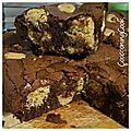 Brownie au chocolat avec inclusion de pâte à cookies