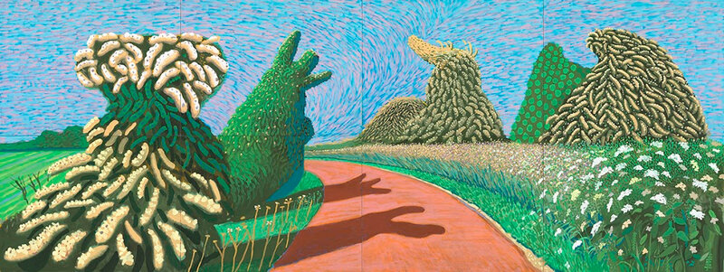 David Hockney, 'May Blossom on the Roman Road', 2009, collection of the artist