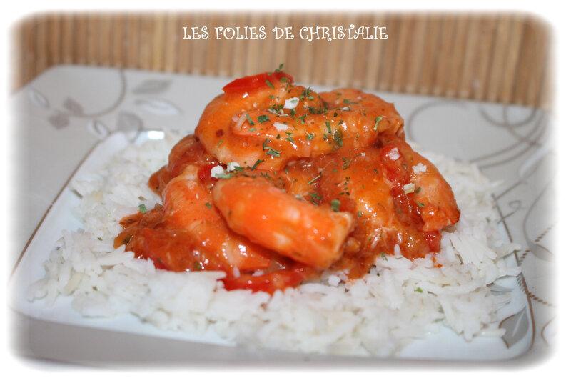 Crevettes sauce aigre douce 4