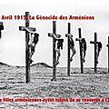 génocide Arménien: chrétiennes exécutées pour avoir refusé de se convertir à l'islam