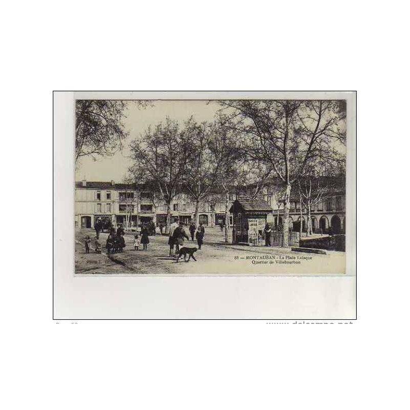 MONTAUBAN_-_La_Place_Lalaque_-_Quartier_de_Villebourbon_-_tr_s_bon__tat